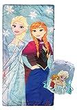 Jay Franco Disney Frozen Sparkle Slumber Sack - Cozy & Warm Kids Lightweight Slumber Bag/Sleeping Bag - Featuring Anna and Elsa (Official Disney Product)