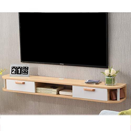 FHKBB Estante para TV montado en la Pared Armario Consola de Entretenimiento Multimedia Unidad de estantería para Juegos con cajón Estante de Montaje en Pared para Muebles (Color: A)