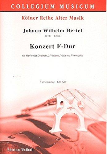 Concert F-Dur voor harp (Cembalo) en strijkkwart (pianouittrekbaar).