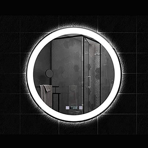 Espejo LED Deluxe - Anti-niebla montada en la pared horizontal o vanidad vertical, espejo de baño moderno resistente a prueba de explosiones iluminadas con iluminación retroiluminada de la pared de la