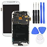 BONYOUN Screen Replacement Compatible with Samsung Galaxy S4 i9505 LCD Display Touch Digitizer Assembly Kit with Repair Tool White