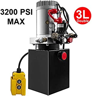 Fisters trailer pump 3 Quart 12V  electric  Hydraulic Power Double/single acting Power-Up Supply Unit for Dump Truck(3 Quart Double Acting)