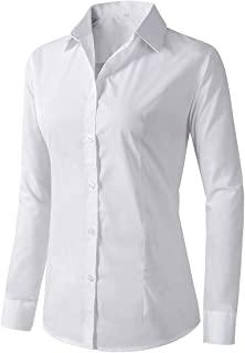 Women's Formal Work Wear White Simple Shirt