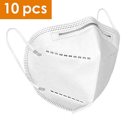 TUSY FFP-2 Maske N-95 Maske, Atemmaske mit verstellbarem Nasenclip (10pcs)
