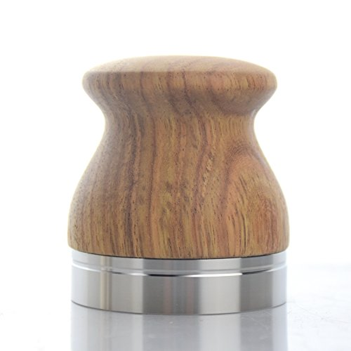 BaristaSoul Tamper Distributor hout zeefdragermachine 58 mm zeefdrager machine accessoire voor perfect tampen natuurhout koffie tampen in hoogte verstelbaar massief roestvrij staal espresso tampen lagen