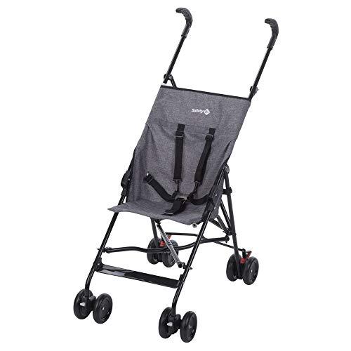 Safety 1st Peps Buggy, wendiger Kinderwagen nutzbar ab 6 Monate bis max. 15 kg, kompakt zusammenfaltbar, mit Feststellbremse und 5-Punkt-Gurt, Leichtgewicht mit nur 4,5 kg, black chic