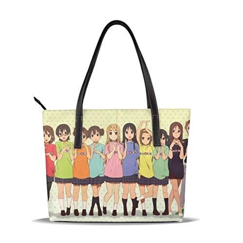 Leder Tasche K-ON Bound Cute Anime Girls Japanese Leather Tote Shoulder Bags Handbags for Women Girl Or Student