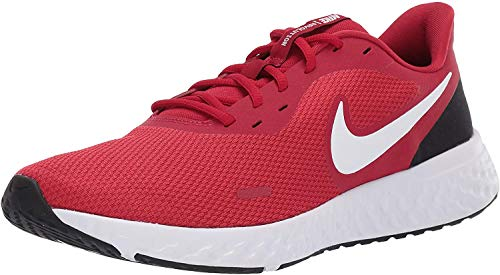 Nike Revolution 5, Zapatillas de Atletismo para Hombre, Rojo Blanco Gym Red White Black 600, 42 EU