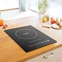 FOGATTI Electric Cooktop 1800W Single Burner Cooktop, Portable Electric Burner, Sensor Touch Induction Cooktop,10 Temperature Power Settings, 240 Min Timer, Auto Shut Off & Safety Lock