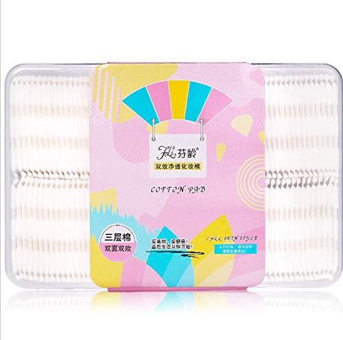 120 pièces de coton épaissi, tampon de nettoyage absorbant carré, utilisé pour enlever les cosmétiques pour le visage ZQ031