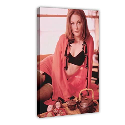 American Film And Television Attrice Julianne Moore 2 Tela Poster Camera Da Letto Decor Sport Paesaggio Ufficio Decorazione Camera Regalo 60 × 90 cm Frame-style1