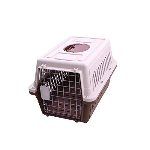 Aida Bz Boîte à air Pet Small et Medium Pet Valise Pet Fournitures Chat et Chien à air boîte Portable Pet Out Box,Brown,XL