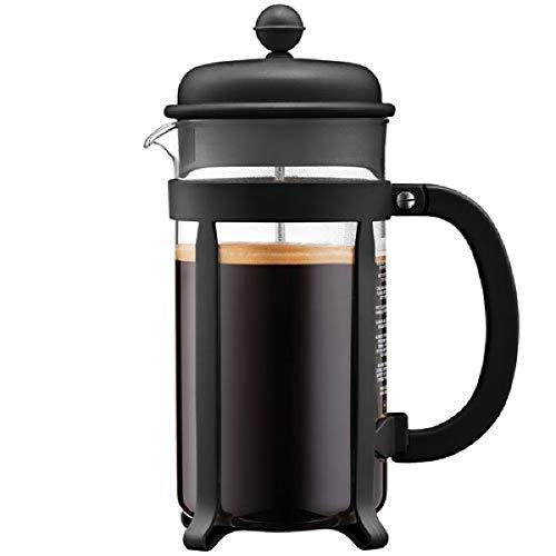 Bodum 1908-01 Java Kaffeebereiter, 8 Tassen, 1 L, Mehrlagig, schwarz, 10,6 x 16,3 x 24,5 cm