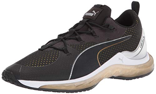 PUMA Women's LQDCELL Hydra Sneaker, Black-Gold Silver, 7.5 M US