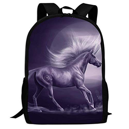 Lawenp Horse and Moon Kids School Backpack Lightweight Travel Bag for Girls Students