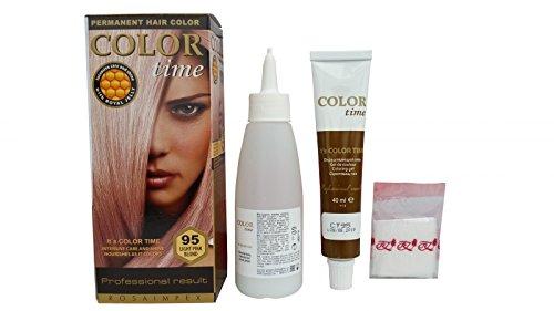 Haarfärbung Rosa-Blond 95, permanent, 2 Stück