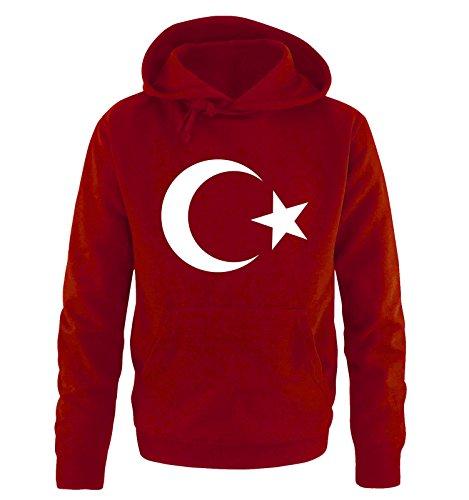 Comedy Shirts Türkei - Wappen - Herren Hoodie - Rot / Weiss Gr. XXL
