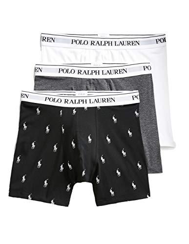Ralph Lauren - Boxer Mann 3-teilige Packung weiß/grau/schwarz mit Logos 714662050053 - Mehrfarbig, L