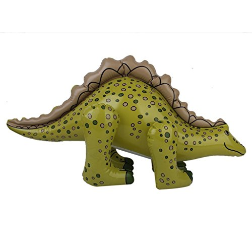 Jinzhicheng bambini gonfiabile Blow Up Animal Cryolophosaurus Dinosaur Toy party favor 73*36cm (verde scuro)
