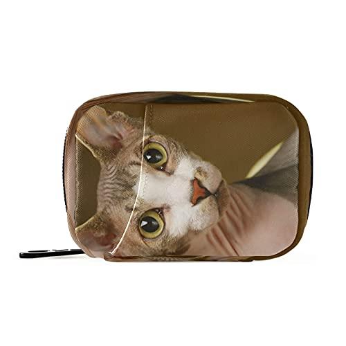Hunihuni Animal Cool Sfinge Cat Medicine Organizers Weekly Pill Case Bag Borsa Portatile Pill Storage Bag Pouch Pouch con Zip Contenitore per Viaggi