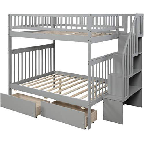 Winne Durable Material Modern and Strong Bed Frame Traditional Small Space Full-Size Loft Bed Thicker Plank to Prevent Collapse