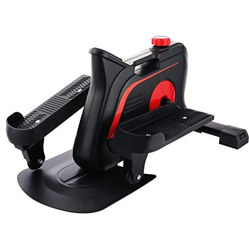 ANCHEER Mini Elíptica Mini Stepper Hometrainer 10 Niveles de Resistencia Ajustables//Pantalla LCD Stepper de apartamento portátil/Máquina de Ejercicios para Oficina Hogar, Carga MAX 110 kg (Negro)