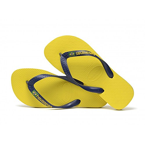 Havaianas Unisex-Erwachsene Brasil Zehentrenner, Gelb (Citrus Yellow), 45/46 EU