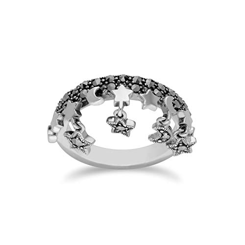 Gemondo 925 Sterling Silver Marcasite Ring