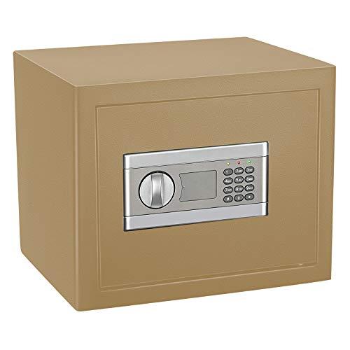 Kacsoo Electronic Security Safe - Cassetta portavalori impermeabile, ignifugo, in acciaio, per uso domestico