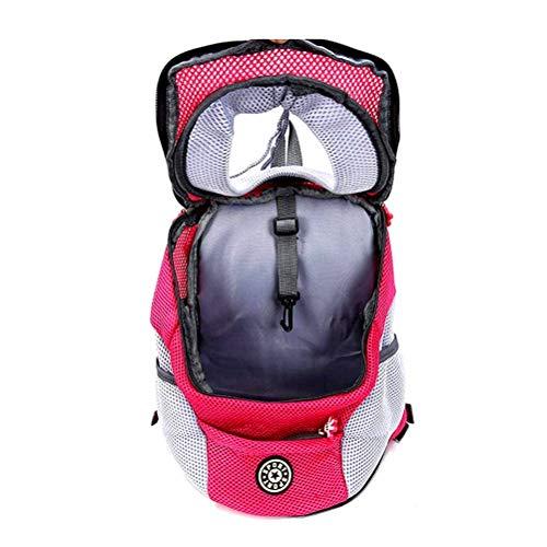 Atrumly Transporttasche für Hunde und Katzen, für kleine Hunde, zum Fahrradfahren, Wandern im Freien, Rosa, Größe S