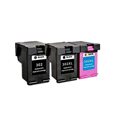 YYCH Tinta de Impresora Reemplazo de Cartucho de Tinta remanufacturado 302XL para HP 302 HP302 XL Cartucho de Tinta para DeskJet 1110 1111 1112 2130 2131 Impresora Productos de Oficina