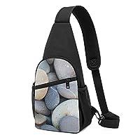灰色の石畳 ショルダーバッグ チェストバッグ 多機能 軽量 メッセンジャーバッグ防水旅行ウエストバッグ 携帯ポーチ カードが 小物入れ 収納 ユニセックス クロスボデ