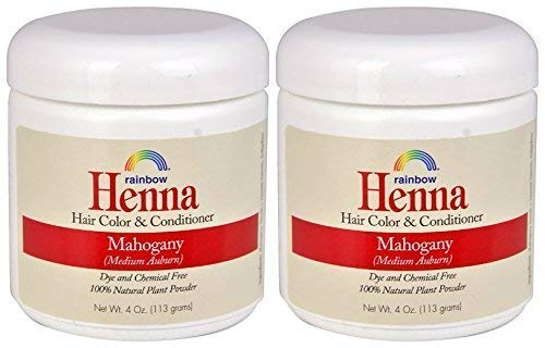Rainbow Research Henna Mahogany Hair Color and Conditioner (Pack of 2) With Indigofera, 4 oz. each.