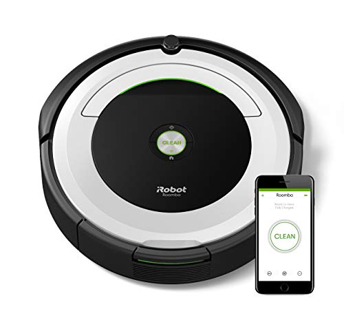 iRobot Roomba 696 robotstofzuiger (tapijt, harde vloeren, 93 mm, 335 mm, 3,56 kg) App-besturing + accessoires. zilver