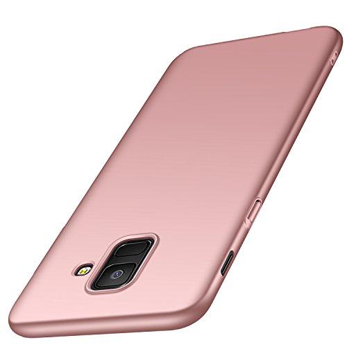 """deconext Funda Samsung A6(2018), Carcasa Ultra Slim Anti-Rasguño y Resistente Huellas Dactilares Protectora Caso de Duro Cover Case para Samsung Galaxy A6(2018) 5,6"""" Rosa Suave"""