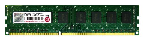 Transcend 4GB DDR3 240-pin DIMM Kit módulo de - Memoria (4 GB, 1 x 4 GB, DDR3, 1333 MHz, 240-pin DIMM)