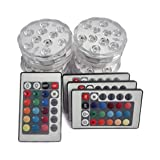 Creatrek Submersible Led Lights,Remote Controlled Waterproof Multi Color Underwater Lights for Pond...