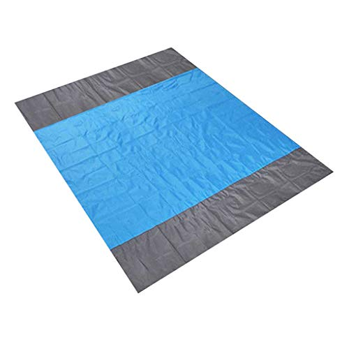 JinJin Beach mat, Beach Blanket, Large Oversized Waterproof Quick Drying Ripstop Nylon Compact Outdoor Picnic Blanket Best Sand Outdoor Picnic Blanket Rug Sandless Mattress Pad (blue)