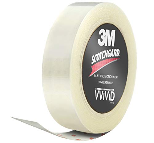 VViViD 3M Clear Scotchgard Paint Protector Vinyl Wrap 2 Inch Wide Tape Roll (2 Inch x 84 Inch)