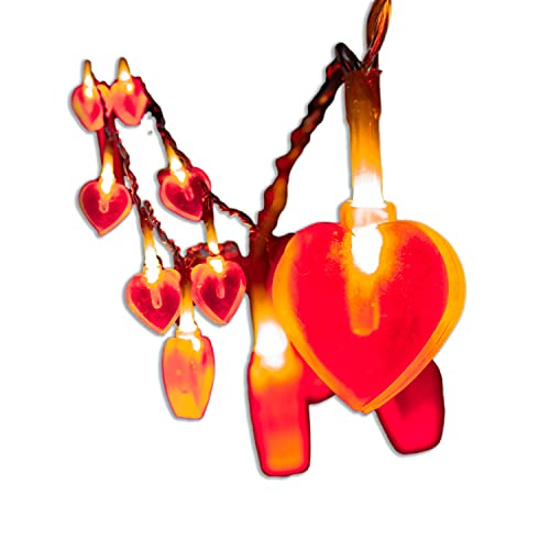 Red Heart String Lights Battery Operated