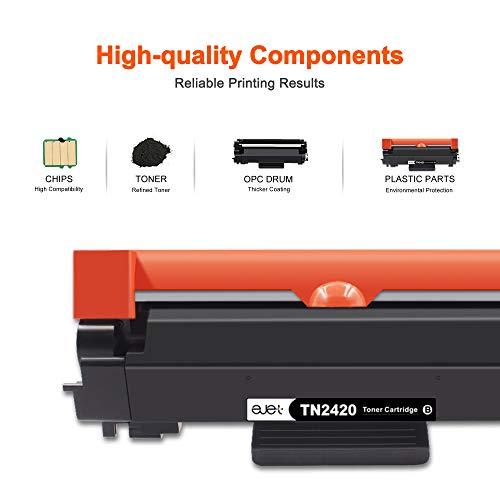 ejet Toner TN2420 Compatible para Brother TN2420 TN-2410 por Brother MFC-L2710DW HL-L2350DW DCP-L2530DW HL-L2370DN DCP-L2510D HL-L2375DW HL-L2310D MFC-L2730DW L2550DN (2 Nero)
