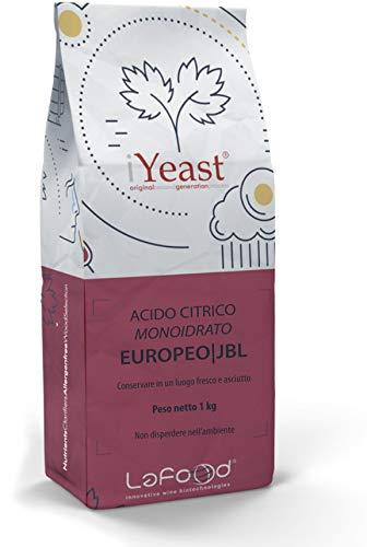 Acido Citrico Monoidrato - E330 - food grade - uso alimentare - Jungbunzlauer - 1kg