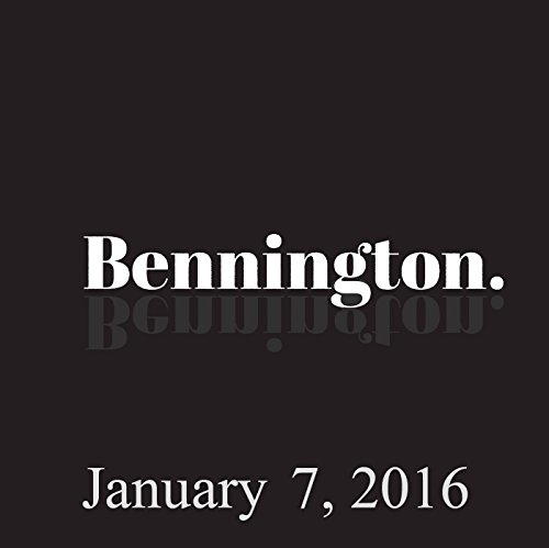 Bennington, January 7, 2016 audiobook cover art