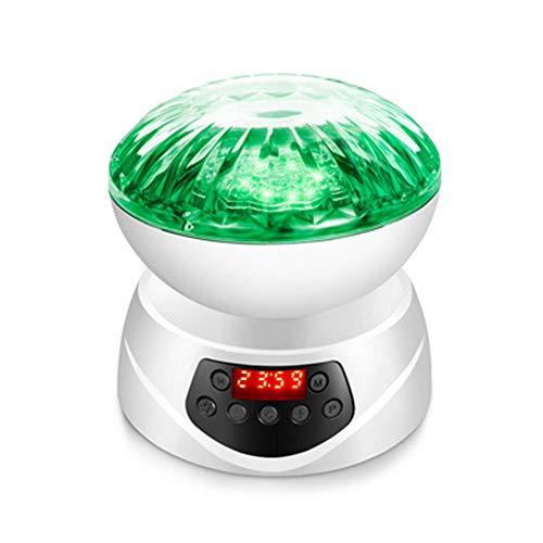 SHIEM Ocean LED Light, LED Ocean Wave Night Light Projector con 7 Colores de luz incorporada Soft Music Black con Control Remoto y Teclas táctiles, con función de temporización