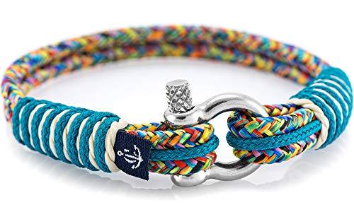 Maritimes Armband aus Segeltau von Constantin Nautics, handgemacht, Geschenkidee für Damen und Herren CNB #819 18 cm