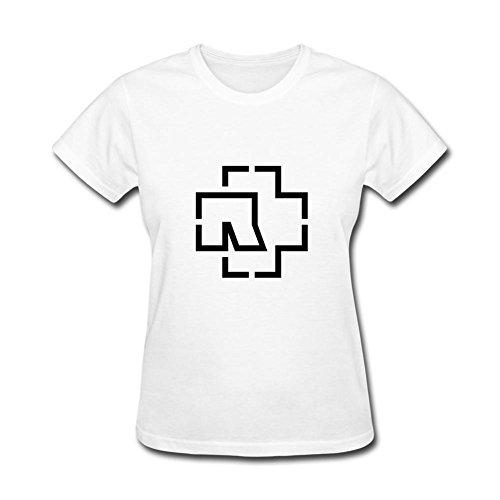 ZHENGXING Logotipo de Rammstein Harte Banda de la Mujeres Manga Corta Camiseta XXL Colorname