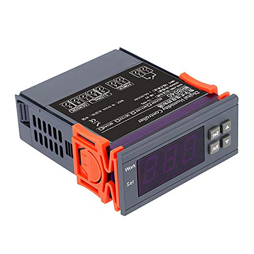 Huatuo Controlador digital de control de humedad del aire Interruptor regulador Regulador electrónico de humedad WH8040 Rango 1% ~ 99% (220V)