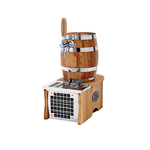 ich-zapfe Komplett Set - Soudek 20, Trockenkühlgerät Bierfass Optik, Bierkühler, Zapfanlage, 1-leitig, 20 Liter/h, Green Line, Zapfkopf:5 Liter Adapter
