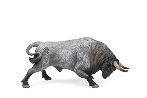 Deqube- Bravo Cárdeno Embistiendo Figura de Toro, Color Gris (90110102)