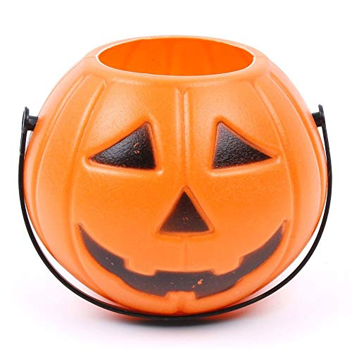 ZHAOZX Halloween Party Requisiten Kunststoff Kürbis Eimer Trick Cosplay Dekoration Tasche Halloween Laterne Family Store Party Nette Dekoration Werkzeuge